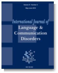 Forside, International Journal of Language & Communication Disorders