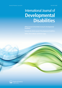 Forsidebilde av Journal International Journal of Developmental Disabilities