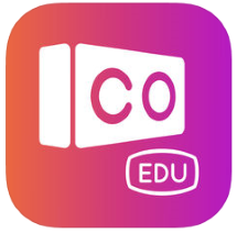CoSpaces Edu appikon med en VR-brille