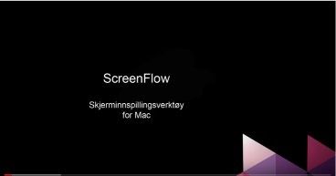 Screenflow - skjerminspillingsverktøy for Mac